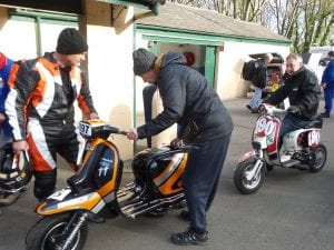 Chalkie from Replay carries out the scrutineering