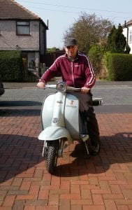 Son-in-law Moxy with the finished TV175