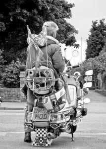 Dave Morris with his MOD number plate
